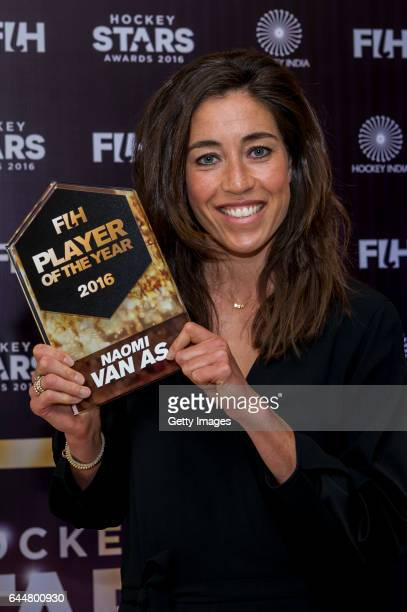 Female Player of the Year Naomi Van As of Netherlands poses for a picture during the FIH Hockey Stars Awards 2016 at Lalit Hotel on February 23 2017...
