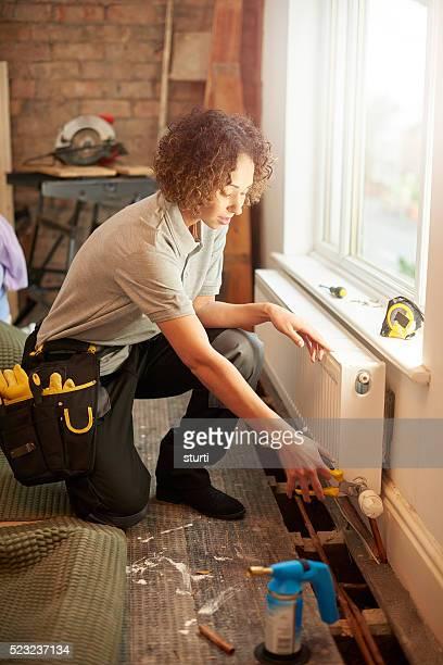 Weibliche Klempner