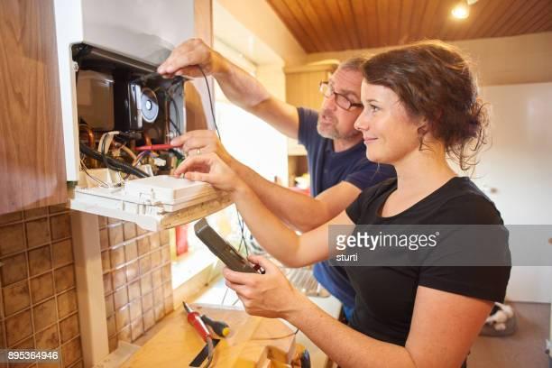 female plumbing engineer with her boss