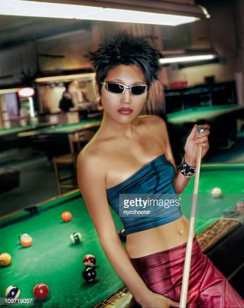 female Pool hustler