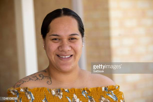 female portrait - pacific islanders stock pictures, royalty-free photos & images