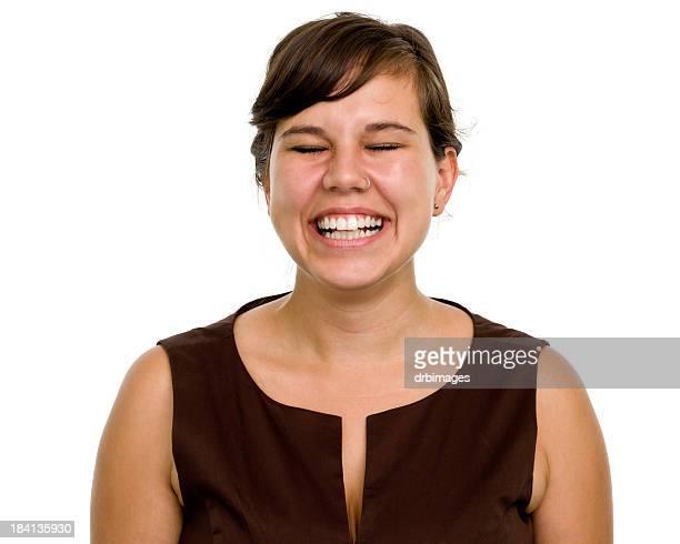 mulher de retrato - sorriso aberto - fotografias e filmes do acervo