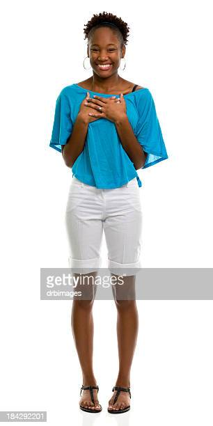 female portrait - black shorts stock pictures, royalty-free photos & images