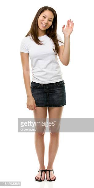 female portrait - waving gesture stock photos and pictures