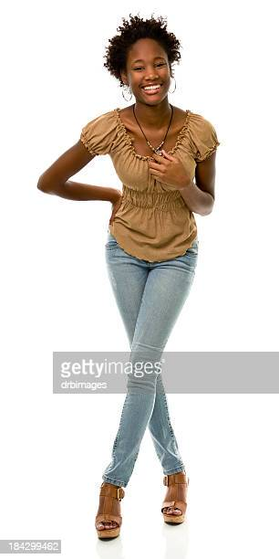 female portrait - skinny black woman stock photos and pictures