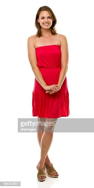 female portrait - strapless dress stock pictures, royalty-free photos & images