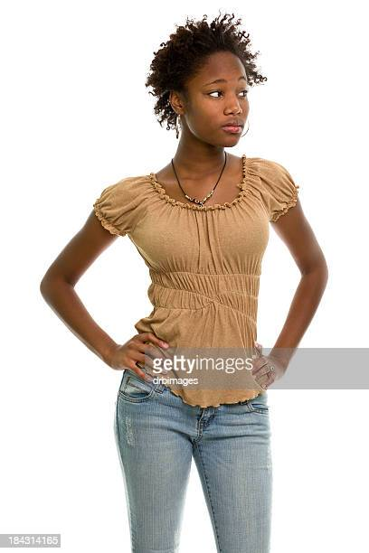 female portrait - arms akimbo stock pictures, royalty-free photos & images