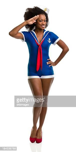 female portrait - sailor suit stock pictures, royalty-free photos & images