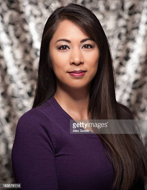 female portrait with purple shirt - beautiful filipino women stock photos and pictures