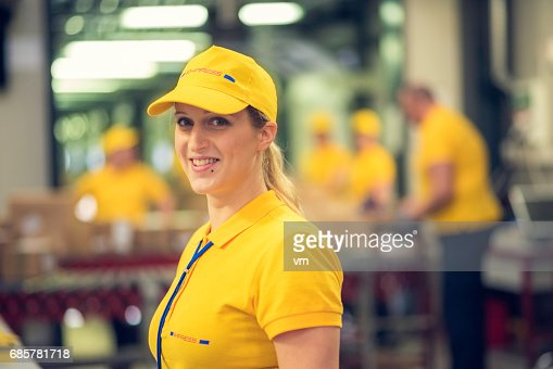 Female Postal Worker High Res Stock Photo Getty Images