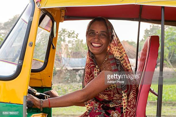Female pretending to be a rickshaw driver