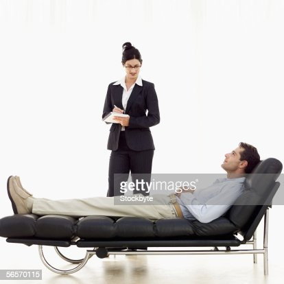 Female Psychiatrist Listening To A Patient On A Sofa Stock Photo Getty Images