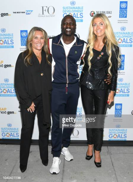 Female Quotient CEO Shelley Zalis Recording artist Akon and Author Ann Rosenberg attend the 3rd Annual Global Goals World Cup at the SAP Leonardo...