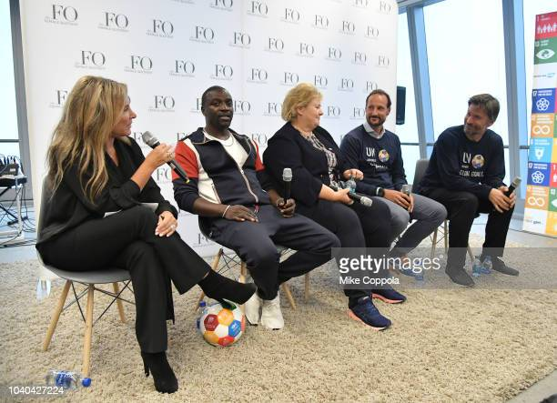 Female Quotient CEO Shelley Zalis Recording artist Akon Prime Minister of Norway Erna Solberg Haakon Crown Prince of Norway and Actor Nikolaj...