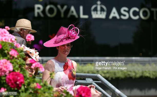 Female racegoer during day three of Royal Ascot at Ascot Racecourse.