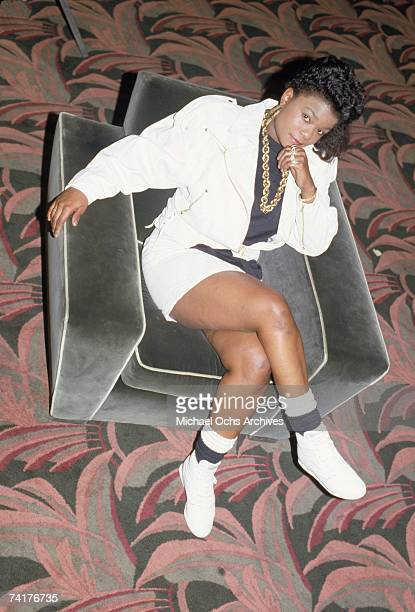 Female rapper Roxanne Shante poses for a candid portrait circa 1988 in New York City.