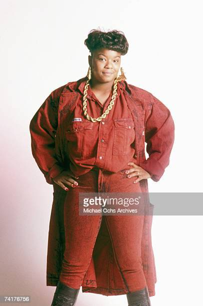 Female rapper Roxanne Shante poses for a portrait session on August 9 1988 in New York City.