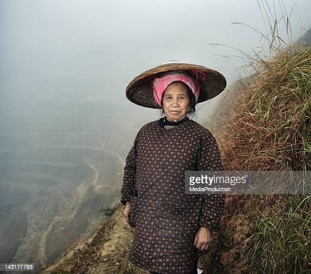 Female Rice Farmer on paddy fields