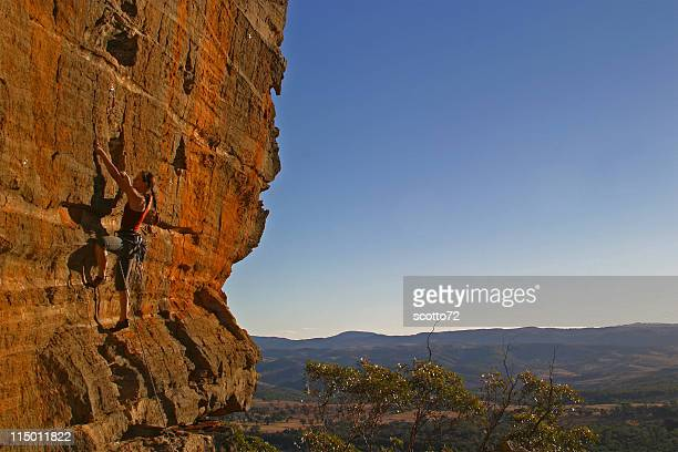 Female Rockclimber - late afternoon