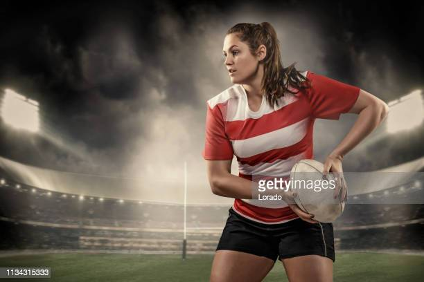 a female rugby player - rugby union stock pictures, royalty-free photos & images