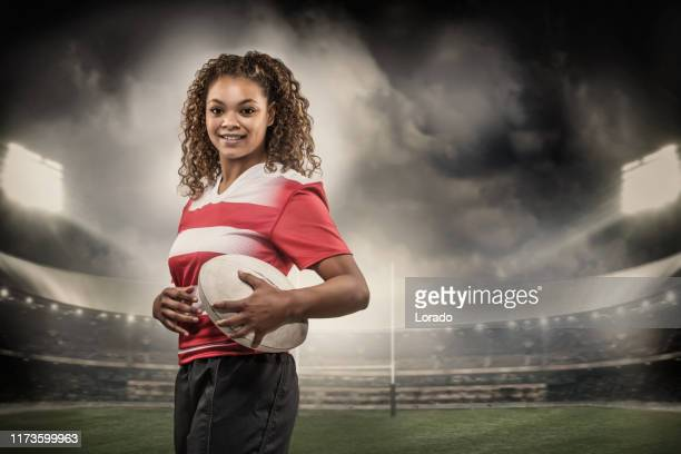 女子ラグビー選手 - ラグビートーナメント ストックフォトと画像