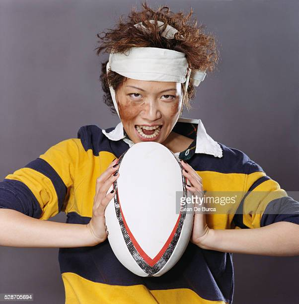 female rugby player - funny rugby stock photos and pictures