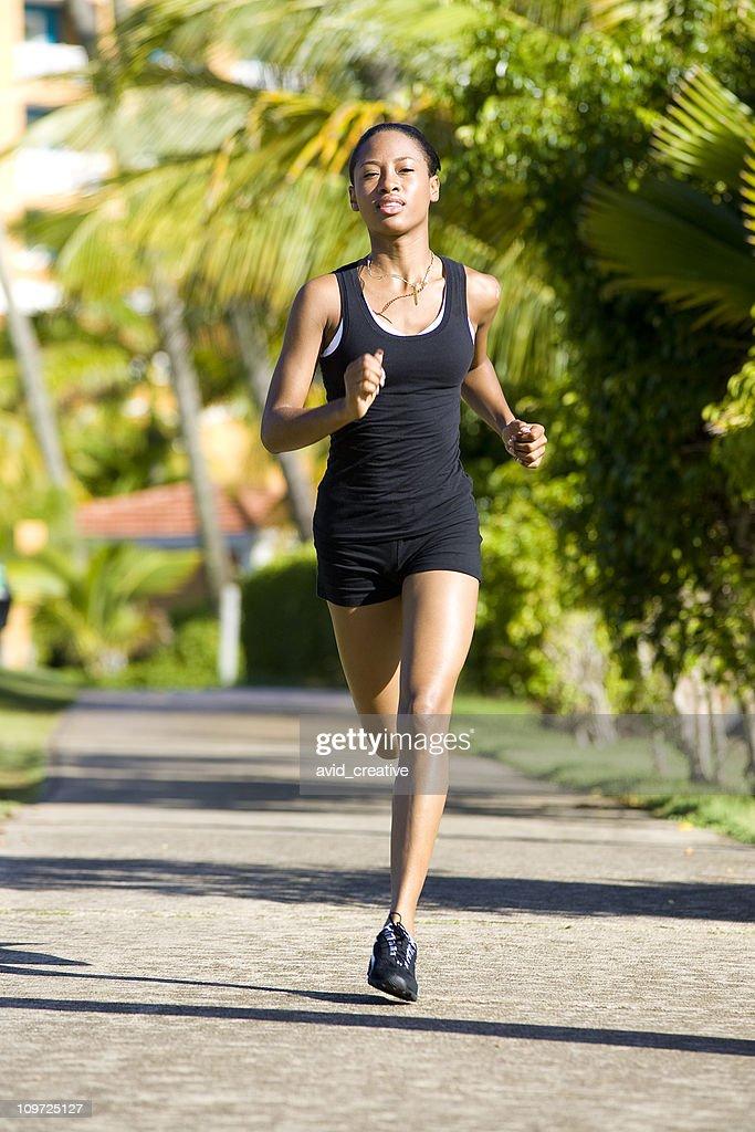 Female Runner : Bildbanksbilder