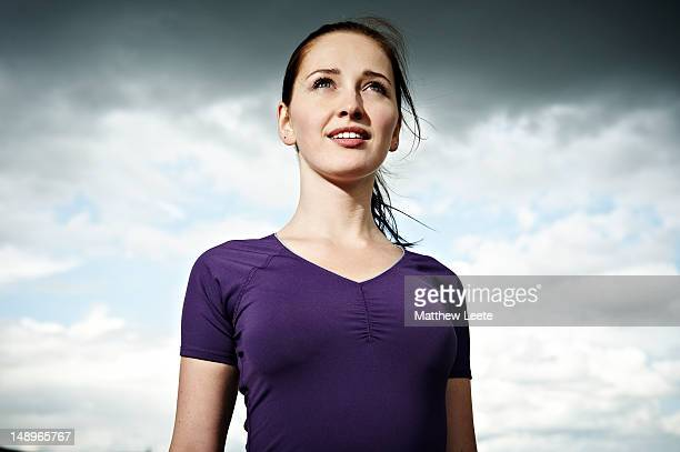 female runner - low angle view stock pictures, royalty-free photos & images