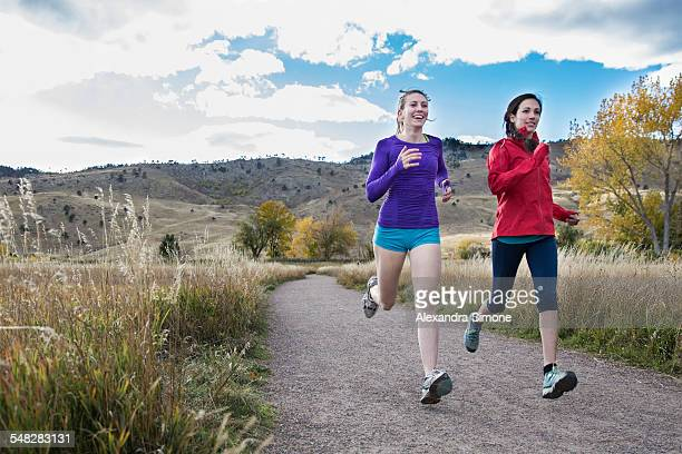 female runners in colorado - boulder colorado stock photos and pictures