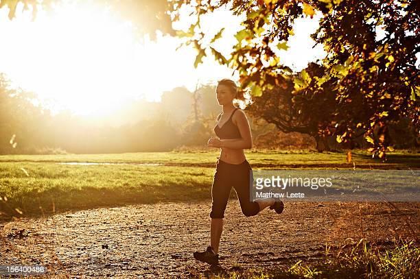Female running in park