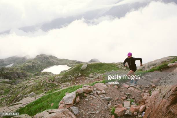Female Running in the Mountains