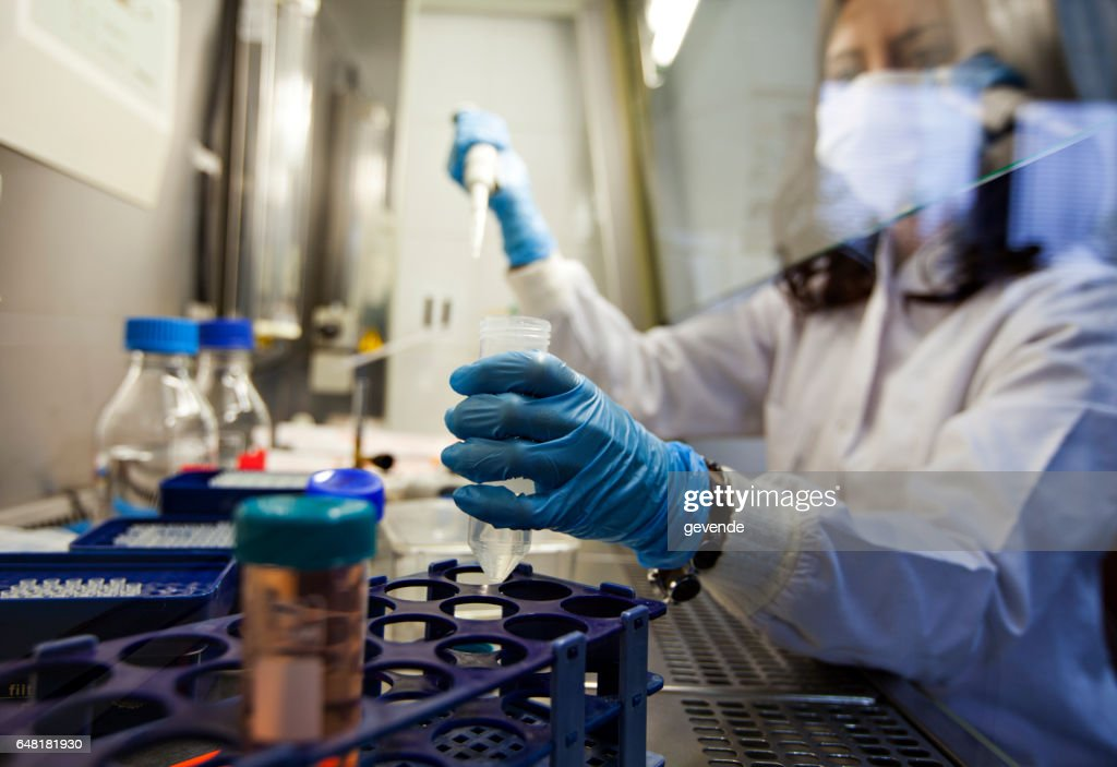 Female Scientist in Lab : Stock Photo