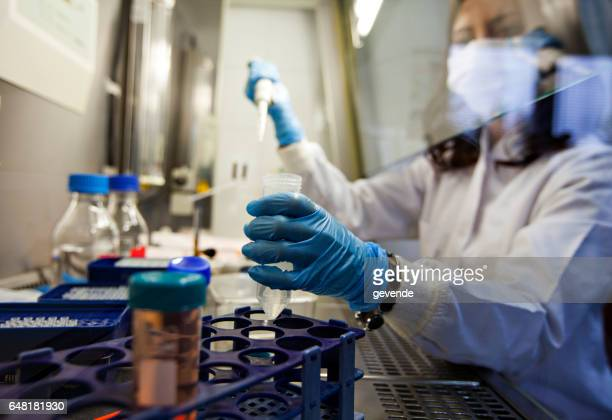 female scientist in lab - cancer stock photos and pictures
