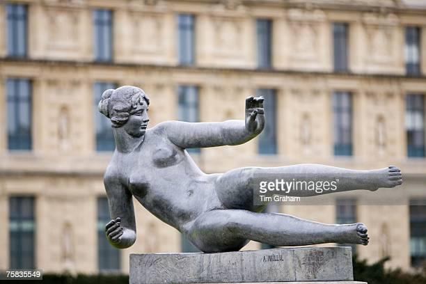 Female sculpture by A Maillol in Jardin des Tuileries Paris France