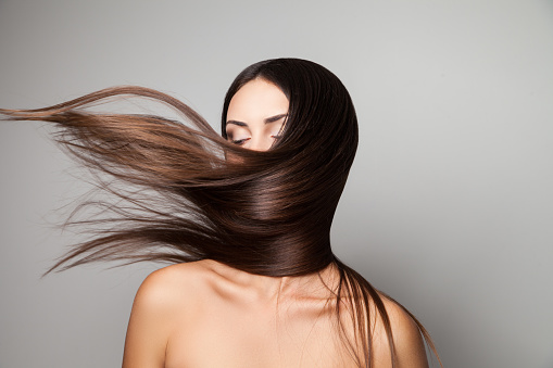 Female shaking her hair - gettyimageskorea