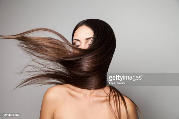 Female shaking her hair