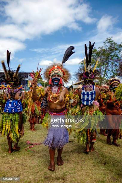 Female Sing Sing Group performer at the 61st Goroka Cultural Show in Papua New Guinea