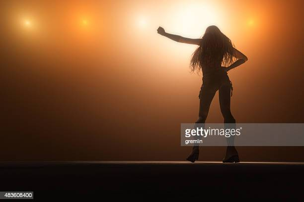 female singer on the stage - singer stock pictures, royalty-free photos & images