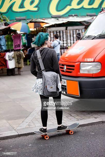 Female Skateboarder Camden Town London