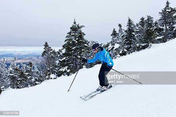 A female skier in New Hampshire.