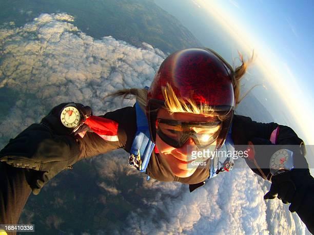 Weibliche Skydiver