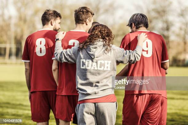 female soccer coach - manager stock pictures, royalty-free photos & images