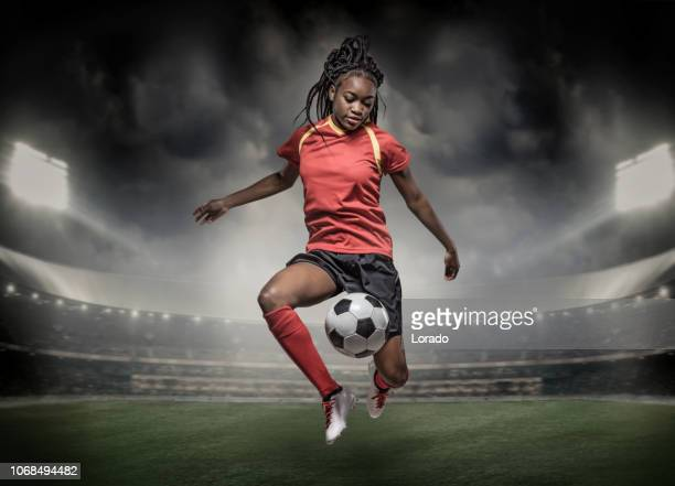female soccer player - soccer competition stock pictures, royalty-free photos & images