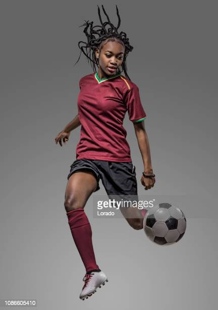 female soccer player - football player stock pictures, royalty-free photos & images