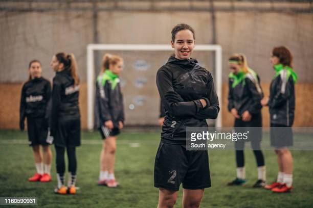 female soccer player - football team stock pictures, royalty-free photos & images