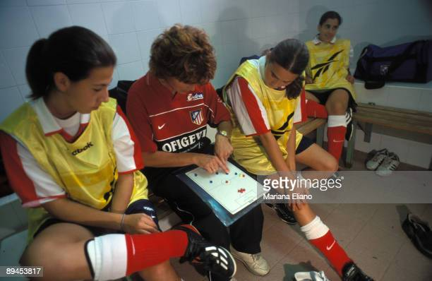 Female soccer Soccer players during a training