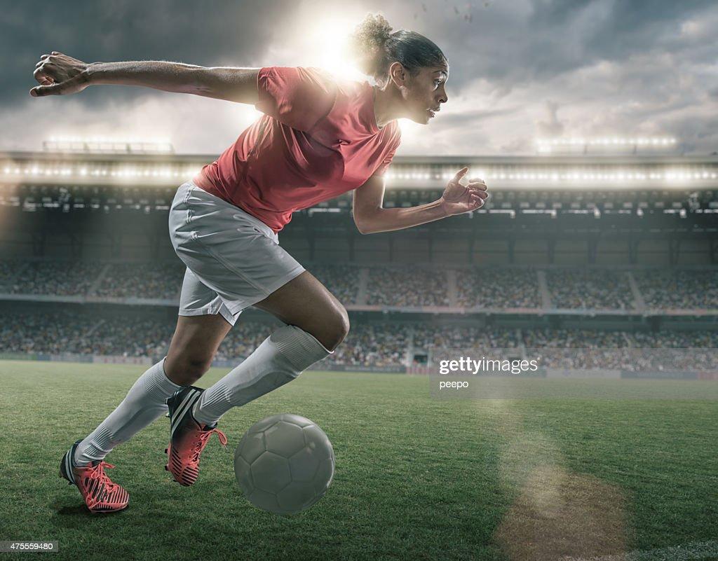 Female Soccer Superstar : Stock Photo