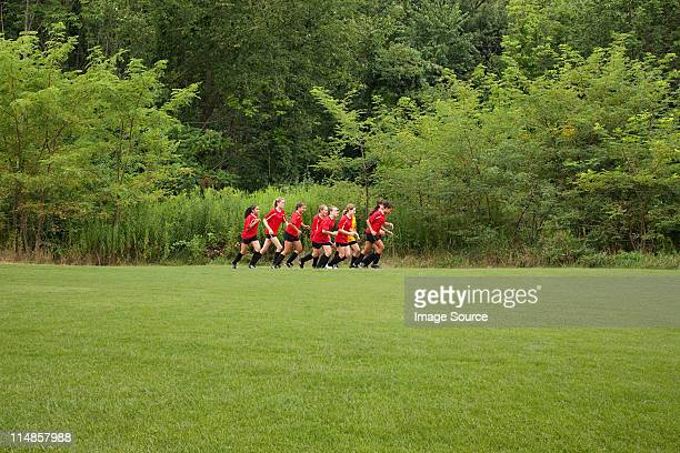female soccer team running - chatham new york state stock pictures, royalty-free photos & images