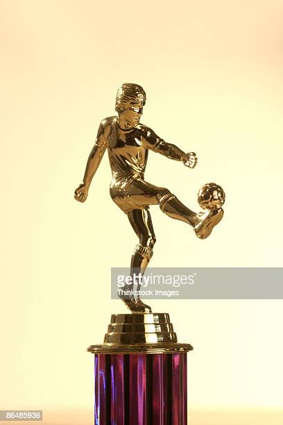 female soccer trophy - human representation stock pictures, royalty-free photos & images