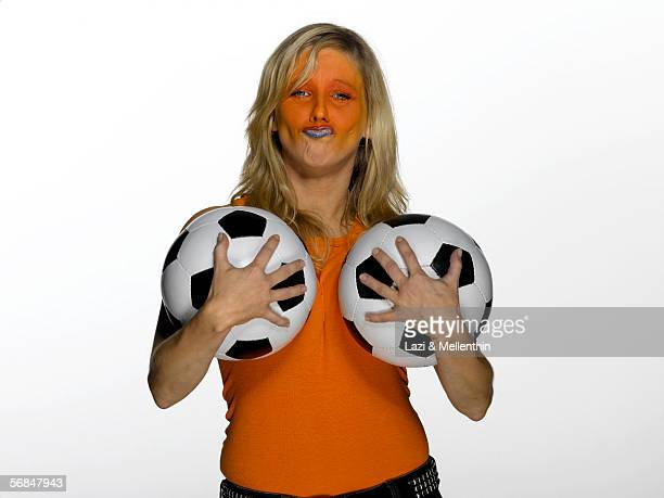 Female soccerfan from Netherlands
